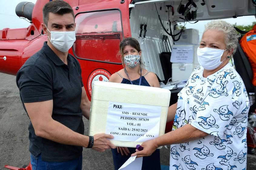 Resende recebe novas vacinas contra a covid-19