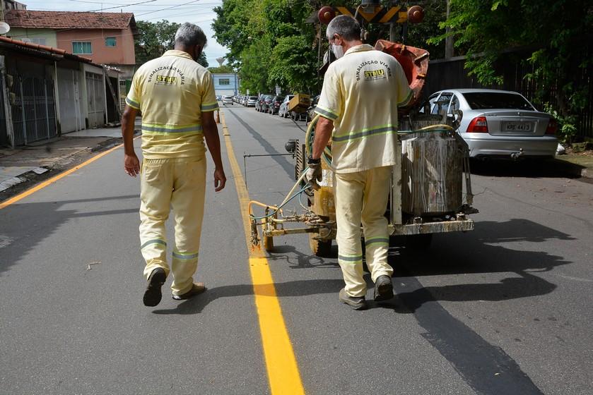 Prefeitura retoma melhorias na sinalização de vias em Volta Redonda
