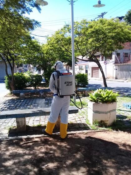 Saae-BM realiza serviços de higienização em diversos pontos do município e instituição de longa permanência de idosos